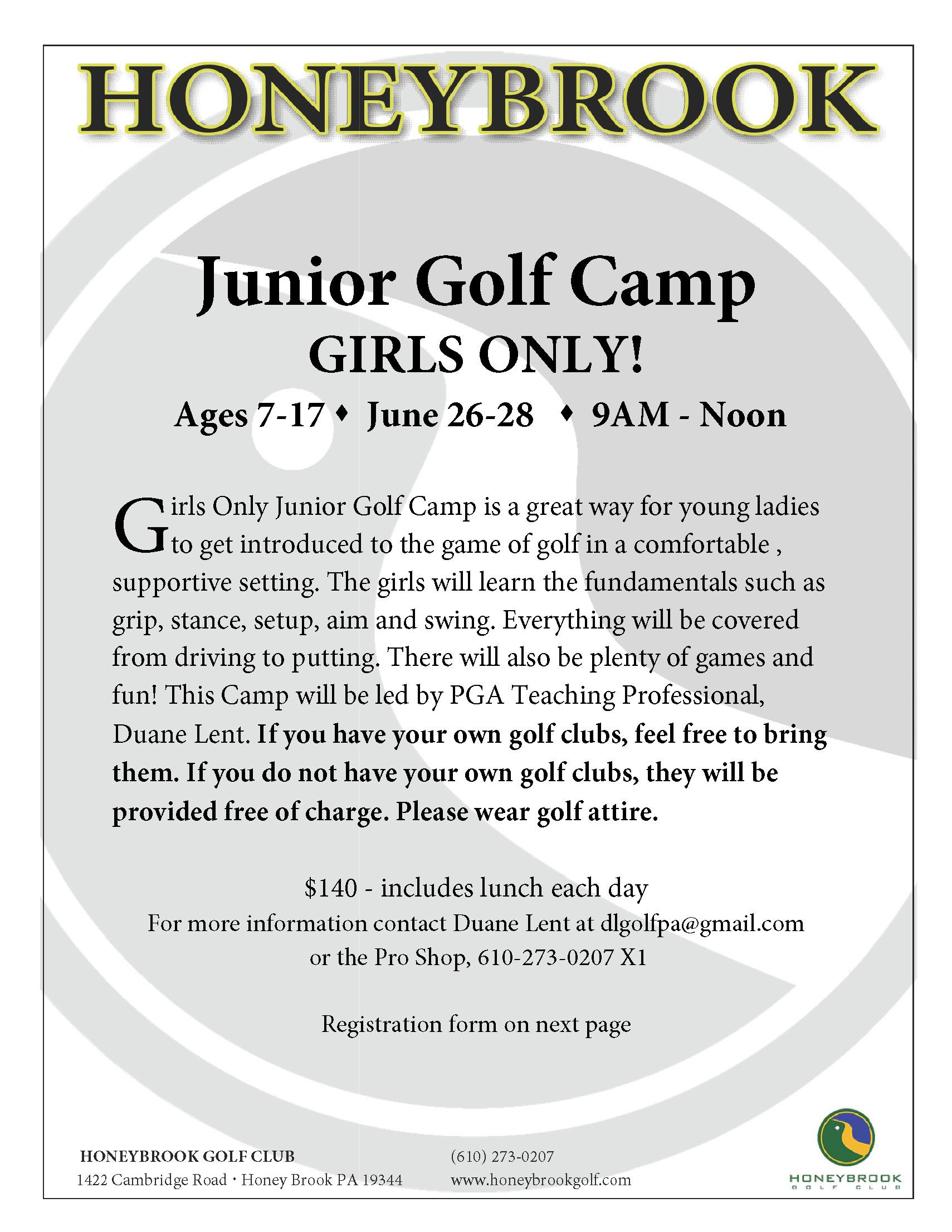 2017Junior Golf Camp GIRLSONLY Page 1