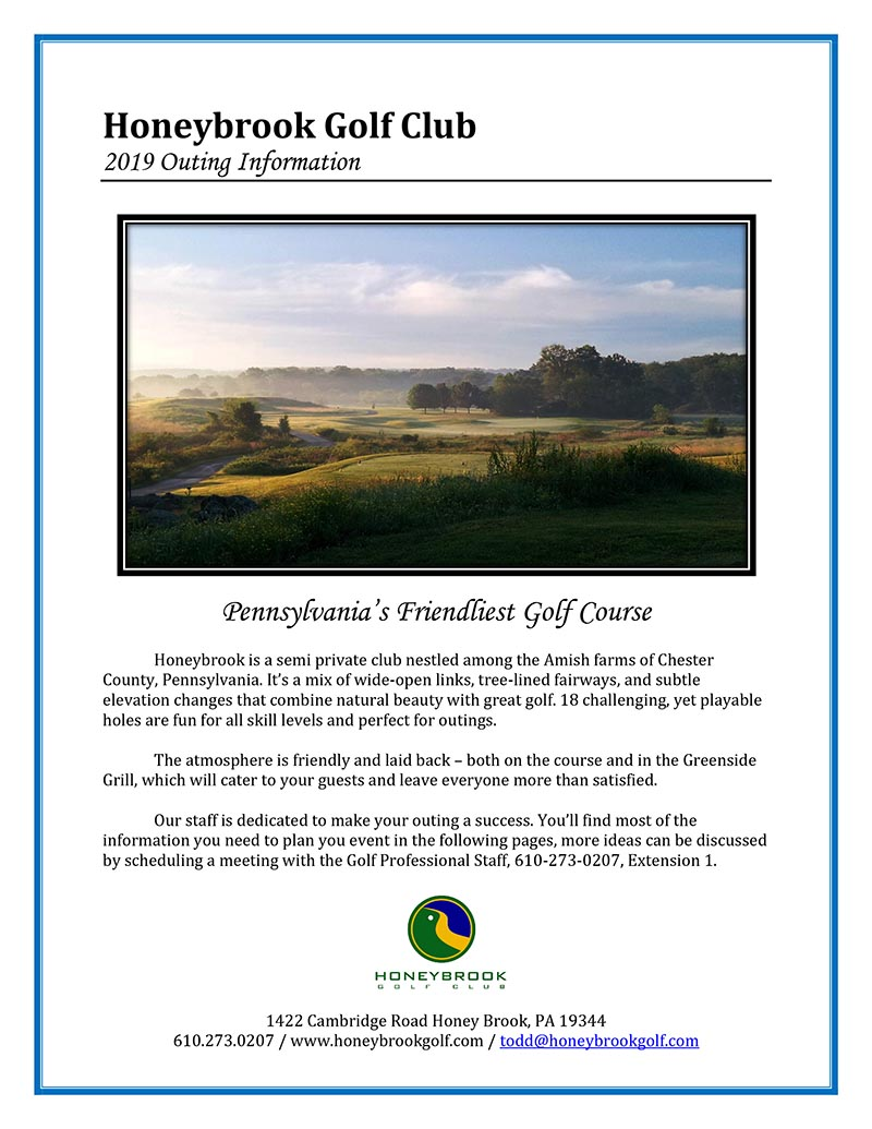 2019 HBGC Outing Packet Cover
