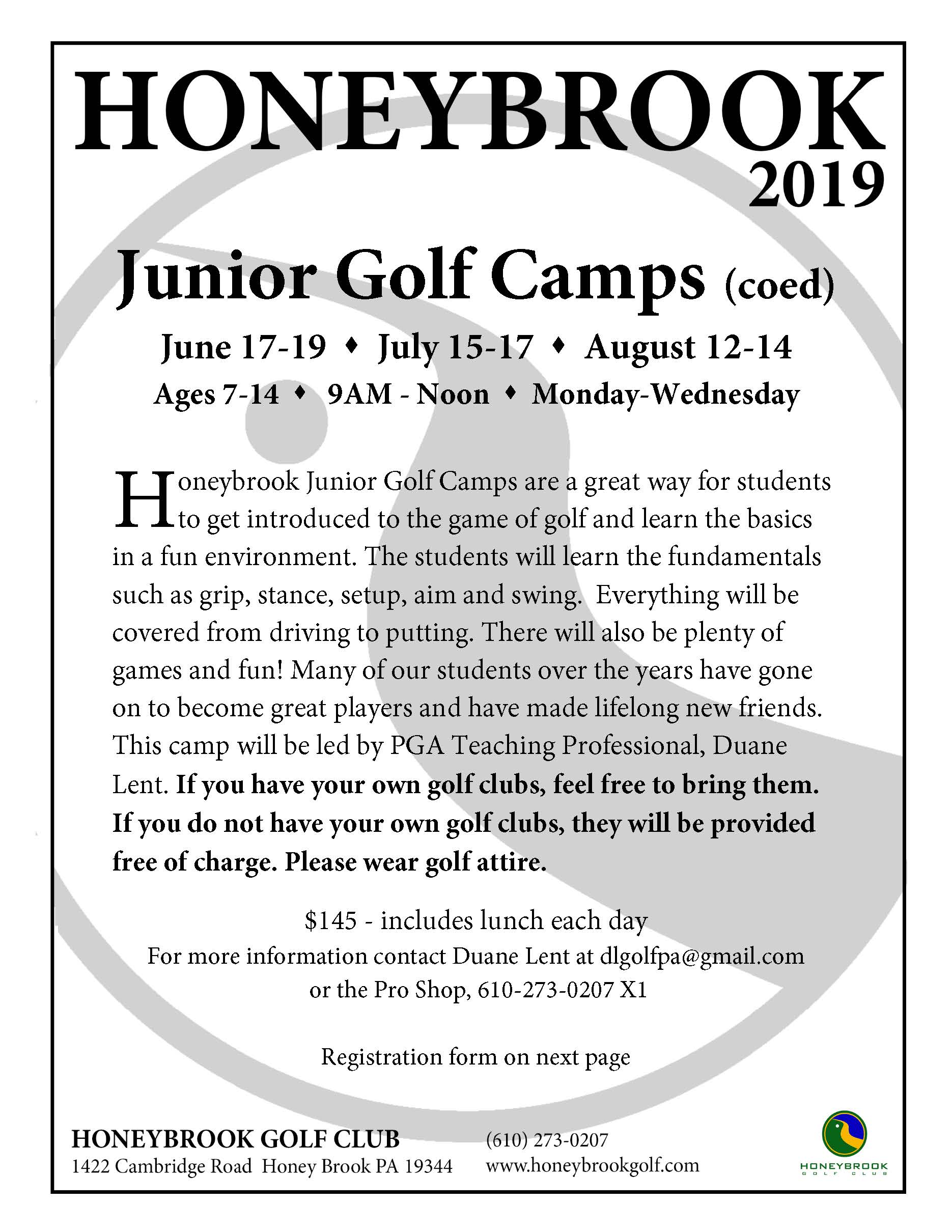 2019 Junior Golf Camp CO ED Page 1